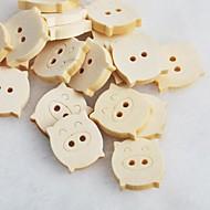 billige -piggy scrapbook scraft sy DIY tre knapper (10 stk)