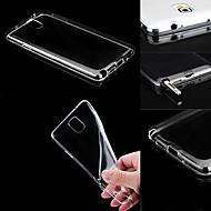 Недорогие Чехлы и кейсы для Galaxy Note-Кейс для Назначение SSamsung Galaxy Кейс на заднюю панель Прозрачный Силикон для