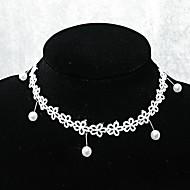 ручной элегантный сладкий Лолита белый мини цветок ожерелье