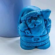 claus strumenti di decorazione torta al cioccolato fondente della torta del silicone della muffa, l7cm * w7cm * h4.5cm