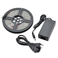 abordables Tiras de Luces LED-5m impermeable 36w 1800lm 150x5050 SMD LED de luz blanca fría luz tira (12v dc)
