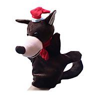 tanie Akcesoria wakacyjne-Głowa wilka Pacynki na palce Kukiełki Pacynka Słodki Słodkie Zabawne Kreskówka Włókienniczy Plusz Dla dziewczynek Dla chłopców Prezent