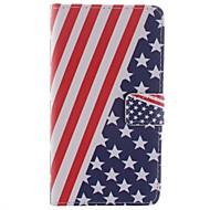 Voor Samsung Galaxy Note Portemonnee / Kaarthouder / met standaard / Flip / Patroon hoesje Volledige behuizing hoesje Vlag PU-leer Samsung