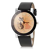 tanie Modne zegarki-Damskie Modny Kwarcowy PU Pasmo Heart Shape Kreskówka Czarny Pomarańczowy