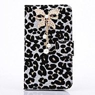 voordelige Galaxy Note-serie hoesjes / covers-Voor Samsung Galaxy Note Strass hoesje Volledige behuizing hoesje Luipaardprint PU-leer Samsung Note 3