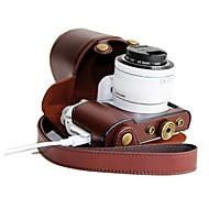 pajiatu® pu cuero cámara de carga patrón funda protectora cubierta de la bolsa para el NX3000 de Samsung con lente 20-50mm