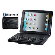 keinonahka flip kotelo, jossa on sisäänrakennettu Bluetooth-näppäimistö iPad 2/3/4 (eri värejä)