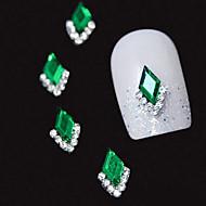 10kpl vihreä Marquise 3d tekojalokivi DIY metalliseos tarvikkeet kynsikoristeet koriste