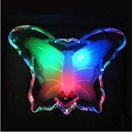 abordables Lámparas LED Novedosas-Luz de la noche de la mariposa ahorro de energía color precioso Lámpara de pared romántica luz de la noche lámpara de la decoración para el dormitorio del bebé