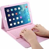 Недорогие Гаджеты для iPad-Кейс для Назначение iPad Air 2 iPad Air со стендом с клавиатурой Флип Чехол Сплошной цвет Твердый Кожа PU для