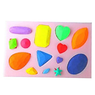 お買い得  ホーム&オフィスガジェット-ダイヤモンド形のベーキングフォンダンケーキchoclateキャンディモールド、l10.1cm * w7cm * h1cm