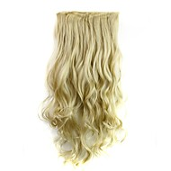 24 inch 120g hosszú hőálló szintetikus szálak szőke göndör klip hajhosszabbítás 5 klip