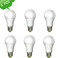 9W E26/E27 Lâmpada Redonda LED A60(A19) 1 leds COB Regulável Branco Quente 900lm 3000K AC 220-240V