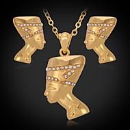 abordables U7-Juego de Joyas La imitación de diamante Brillante Chapado en Plata Chapado en Oro La imitación de diamante Plata DoradoCollares