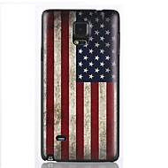 For Samsung Galaxy Note Etuier Mønster Bagcover Etui Flag PC for Samsung Note 4