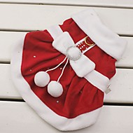 abordables Disfraces de Navidad para mascotas-Gato / Perro Disfraces / Vestidos / Navidad Ropa para Perro Lazo Rojo Algodón Disfraz Para mascotas Mujer Cosplay / Navidad / Año Nuevo