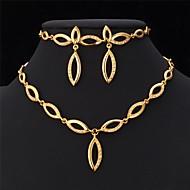 abordables U7-diseño de conjunto de collar u7® 18k oro verdadero plateado collar pendientes pulsera del Rhinestone de la joyería del partido