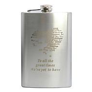 kişiselleştirilmiş hediye 9oz paslanmaz çelik cep şişesi kalp