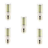 お買い得  LED コーン型電球-BRELONG® 5個 5 W 600 lm E26 / E27 LEDコーン型電球 69 LEDビーズ SMD 5730 ナチュラルホワイト 220-240 V