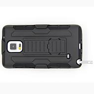 Для Samsung Galaxy Note Защита от удара / со стендом Кейс для Задняя крышка Кейс для Армированный PC Samsung Note 4