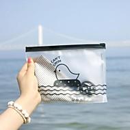 preiswerte Schreibwaren-Hühnermuster durchlässigen Kunststoff Reißverschlusstasche (gelegentliche Farbe)