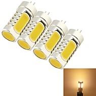 olcso LED kukorica izzók-YouOKLight 4db 5 W 400-450 lm G4 LED kukorica izzók T 4 led COB Dekoratív Meleg fehér AC 12V DC 12V