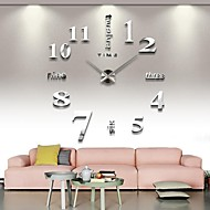 3D Large Mental Home Decor DIY Creative Personality Wall Clock for Living Room 12S015-S