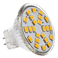 GU4(MR11) LED Spotlight 24 leds SMD 2835 Warm White Cold White 230lm 3500/6000K AC 12V