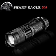 SHARP EAGLE LED Lommelygter LED 500LM Lumen Tilstand Cree XR-E Q5 Batterier ikke inkluderede Nedslags Resistent Glidesikkert Greb