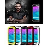 Недорогие Чехлы и кейсы для Galaxy Note-Lovemei Кейс для Назначение SSamsung Galaxy Samsung Galaxy Note Водонепроницаемый / Защита от удара Чехол Сплошной цвет Металл для Note Edge