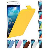 billiga Skal- och fodral till Samsung-fodral Till Samsung Galaxy Samsung Galaxy-fodral Lucka Fodral Ensfärgat PU läder för S4