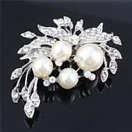 női gyöngy cz kristály esküvői kitűző számára birde