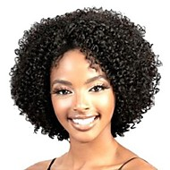 Synthetic Wig Curly / Kinky Curly / Loose Wave Asymmetrical Haircut / Middle Part Synthetic Hair 10 inch Natural Hairline / African American Wig Black Wig Women's Short Capless Black