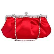 abordables Bolsos de Mano-Mujer Bolsos Seda Bolso de Noche Set de 7 piezas de monedero para Evento/Fiesta Invierno Blanco Negro Morado Rojo Almendra