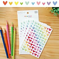 Colorful Funny Heart Sticker Set(6 PCS)