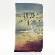 The Cloud of Birds Pattern Full Body Case with Stylus ,Anti-Dust Plug and Stand for LG L70