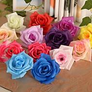 6 Parça 1 şube İpek Plastik Güller Masaüstü Çiçeği Yapay Çiçekler