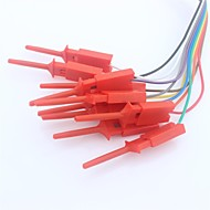 billige Arduino tilbehør-hurtig ledningsforbindelse klip for logik analysator test - rød (10 stk)