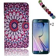 Для Бумажник для карт / Кошелек / со стендом / Флип / С узором Кейс для Чехол Кейс для Цветы Твердый Искусственная кожа Samsung Trend 3