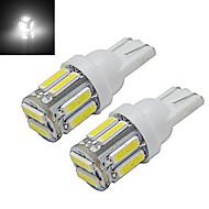 1W T10 Luz de Decoração 10 leds SMD 7020 Branco Frio 100-150lm 6000-6500K DC 12V