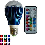 お買い得  LED ボール型電球-RGB lm E26/E27 LEDボール型電球 A80 3PCS LEDの ハイパワーLED 調光可能 装飾用 リモコン操作 RGB AC85-265V