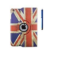 voordelige iPad-hoesjes/covers-hoesje Voor iPad 4/3/2 met standaard Origami 360° rotatie Volledig hoesje Vlag PU-nahka voor iPad 4/3/2