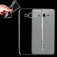 Недорогие Чехлы и кейсы для Galaxy J-Кейс для Назначение SSamsung Galaxy Кейс для  Samsung Galaxy Прозрачный Кейс на заднюю панель Сплошной цвет ТПУ для Grand Prime