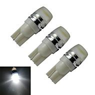 billige Andet LED-lys-3stk 90lm T10 Dekorationslampe 1 LED Perler Højeffekts-LED Kold hvid 12V