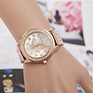 billige -yoonheel Dame Simulert Diamant Klokke Moteklokke Quartz Imitasjon Diamant Metall Band Sølv Gylden Rose Gull