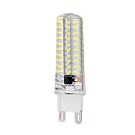 halpa LED-maissilamput-ywxlight® g9 led maissi valot 80 smd 720 lm luonnonvalkoinen 6000-6500 k himmennettävä akku 220-240 v