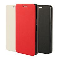 Для Кейс для  Samsung Galaxy со стендом / Флип Кейс для Чехол Кейс для Один цвет Искусственная кожа Samsung Grand Prime