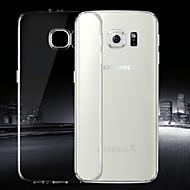 Для Кейс для  Samsung Galaxy Ультратонкий / Прозрачный Кейс для Задняя крышка Кейс для Один цвет TPU Samsung S6