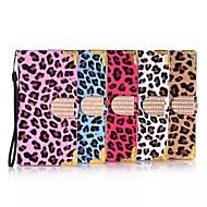 Для Кейс для  Samsung Galaxy Бумажник для карт / Флип Кейс для Чехол Кейс для Леопардовый принт Искусственная кожа Samsung S6 edge