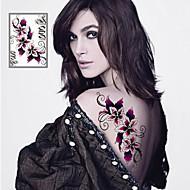 Seria kwiatowa Naklejki z tatuażem - Damskie/Męskie/Dorosły/Dla nastolatków - Sexy Flowers - 21*14.5cm(8.3*5.7in) - Paper - Wielokolorowy